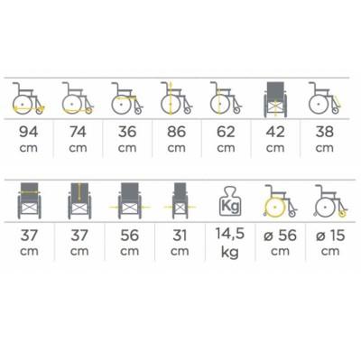 Silla de ruedas para ni os 298 comprar silla de ruedas for Sillas para ninos medidas