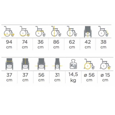 Silla de ruedas para ni os 298 comprar silla de ruedas for Medidas sillas ninos