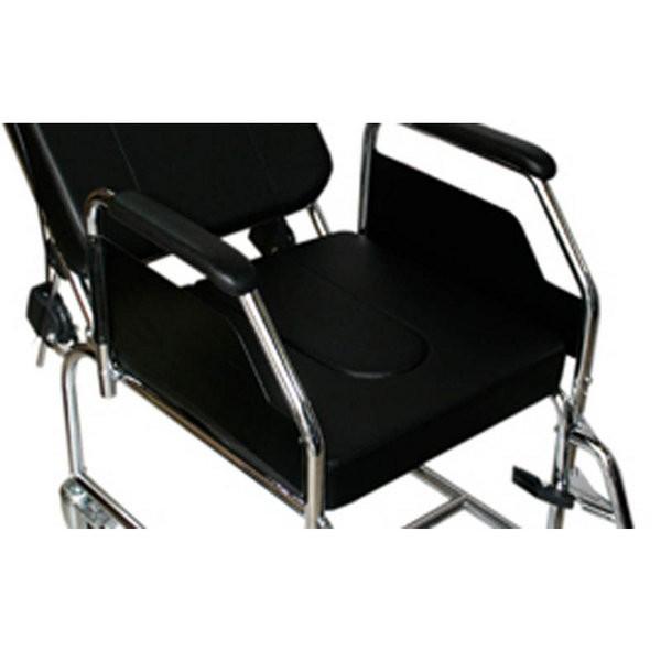 Asiento inodoro con cubeta para sillas de ruedas plegables for Sillas para orinar ancianos