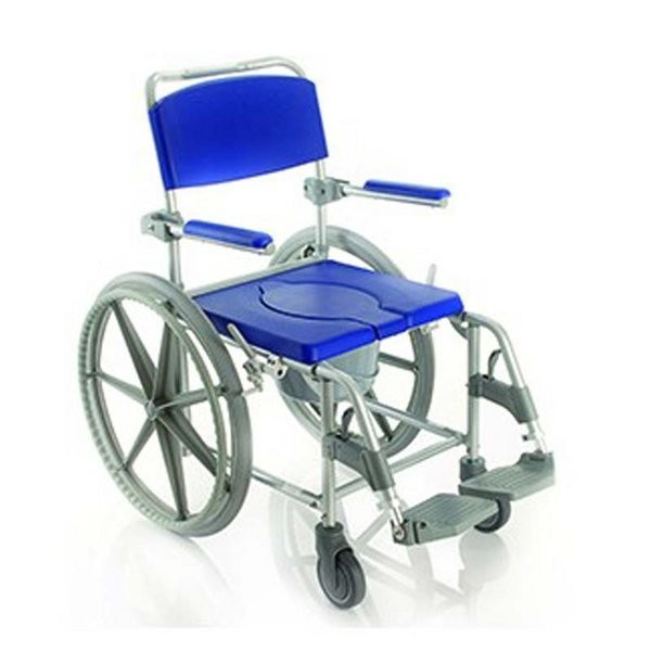445 silla para ducha y wc con ruedas comprar silla de for Sillas para inodoros
