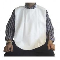 Babero para Adulto Impermeable de Rizo Cierre Lazo