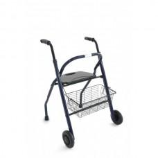 Andador de Adultos COSMOS Plegable con Asiento Azul