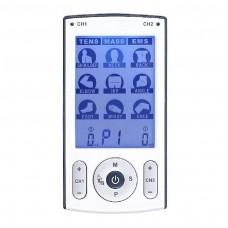 TENS, EMS y Masaje, Estimulador 3 en 1, 2 canales