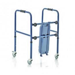 Andador ancianos con asiento y 4 ruedas giratorias