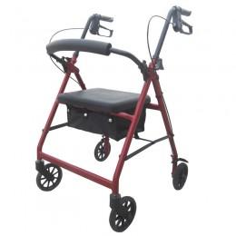Andador para Ancianos Extra Ligero Con Frenos y Cesta