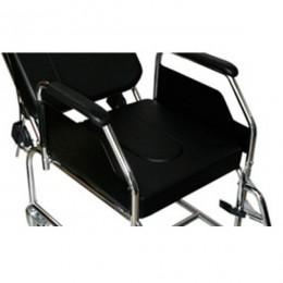 Asiento inodoro con cubeta para sillas de ruedas plegables