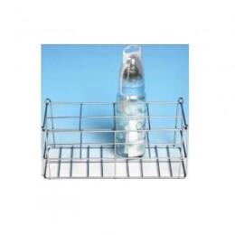 Cestillo para 12 biberones de Varilla Acero Inox