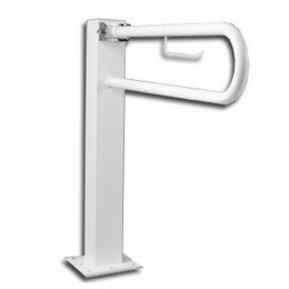 Barra Abatible para Wc DESIGN con Portarrollo 80cm