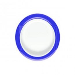 Plato antideslizante inclinado de ayuda en alimentación azul