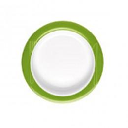 Plato antideslizante inclinado de ayuda en alimentación verde