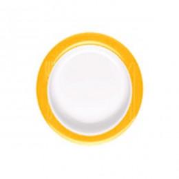 Plato antideslizante inclinado de ayuda en alimentación amarillo