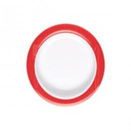 Plato antideslizante inclinado de ayuda en alimentación rojo