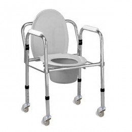 Silla Wc CROMO II con Ruedas,Plegable y Regulable