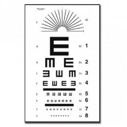 "Tabla de Tumbling ""E"" 6m para Optometría Plastificada"