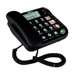 Teléfono Ancianos BLACK Fácil Uso con Fotografías