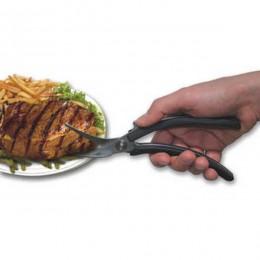 Cuchillo tenedor en uno para ayuda en la alimentación