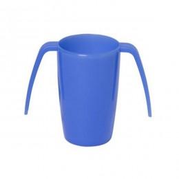 Vaso con doble asa en color azul