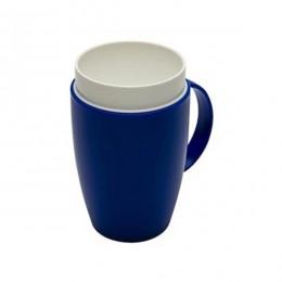 Vaso termico interior cónico facilita la tarea de beber en azul