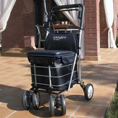 Andador y Carro de la Compra con Asiento y Frenos LETT800