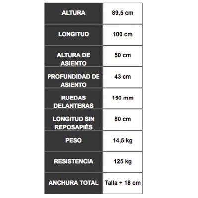 Forta Trial Estándar, Silla de Ruedas Deportiva con Accesorios